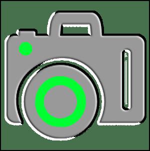 camera green icon