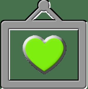 Green Hart Frame