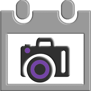 Purple Diary Camera Icon