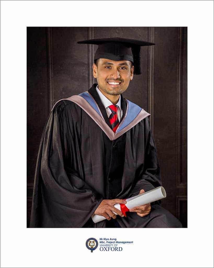Oxford Uni graduation photo